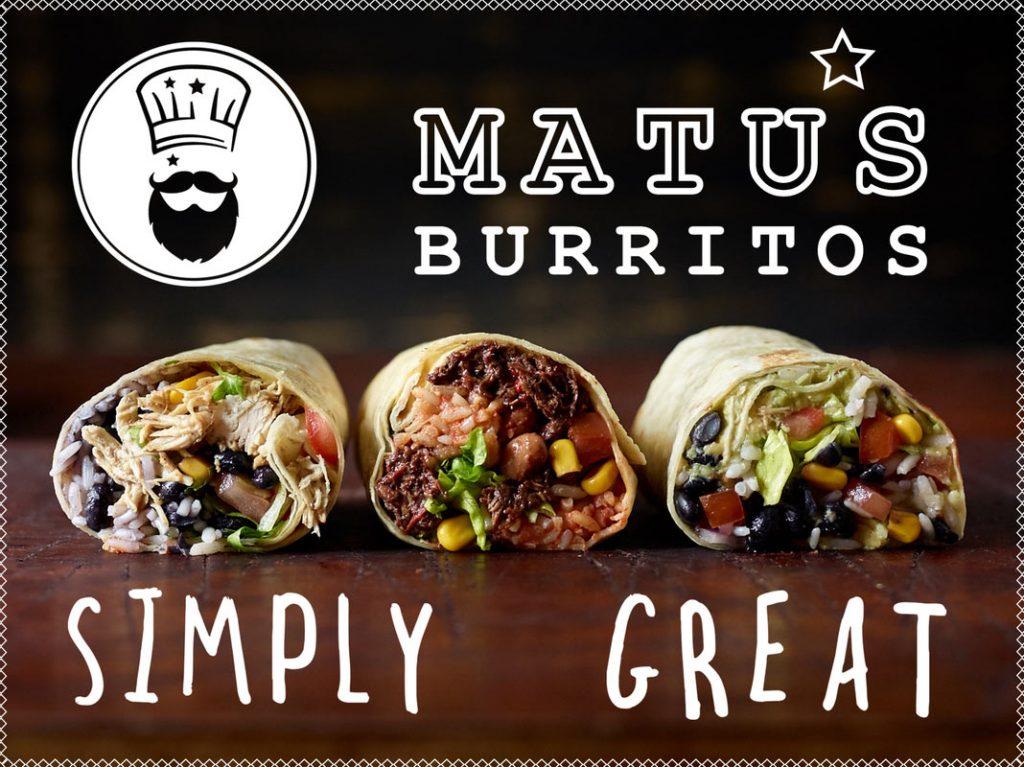 Matus Burritos | Classic Burritos & Logo